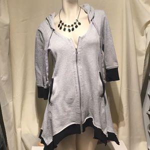 Venus Long Hooded Zippered Sweatshirt